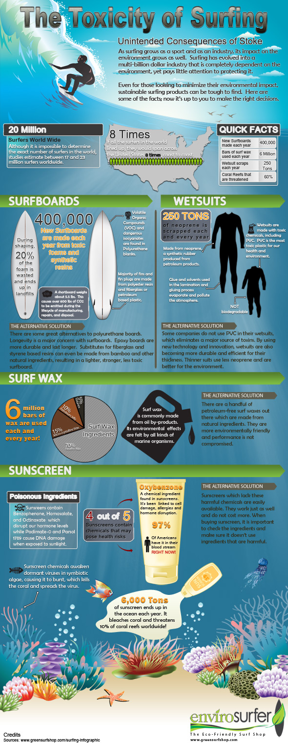 Surfing Infographic by Envirosurfer
