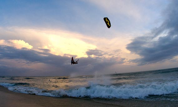 Kiteboarding - Jump at Sunset