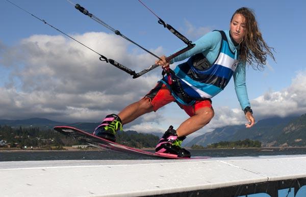 Claire Lutz Kiteboarding Slider