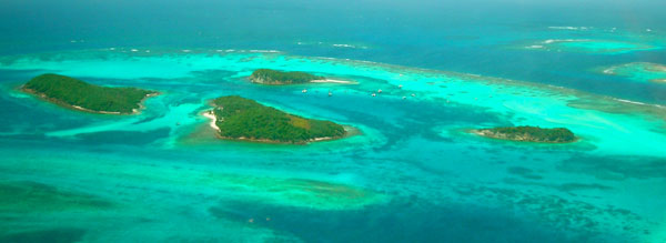 Grenadines air shot Tobago Cays