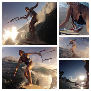 Gretta Kruesi Kiteboarding Collage