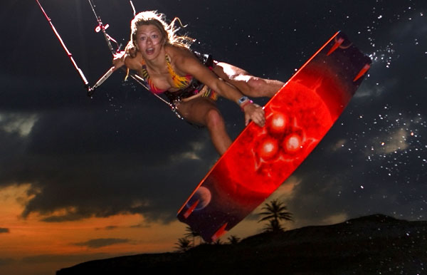 Hannah Whiteley Kitesurfing