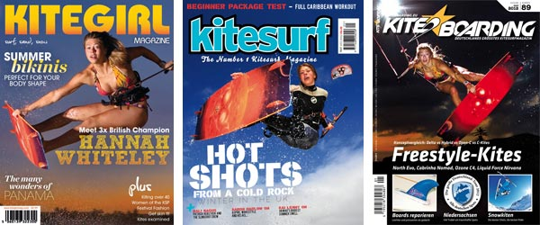 Hannah Whiteley Kitesurfing Magazine Covers