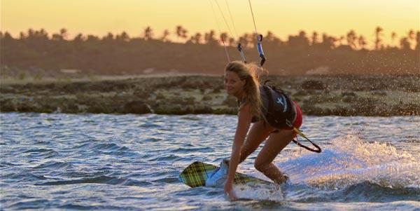 Katie Chandler Kitesurfing