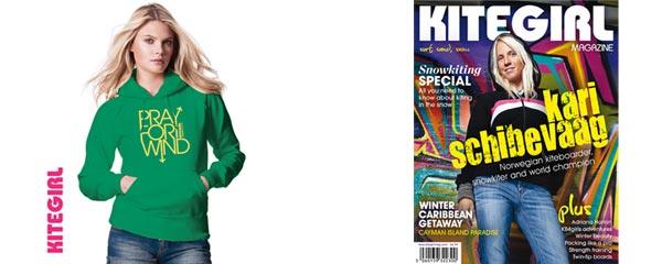 Kitegirl Hoodie Green & Magazine