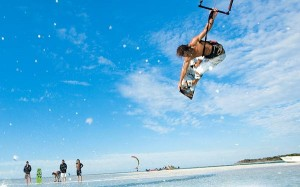 Kitesurfing Board Grab