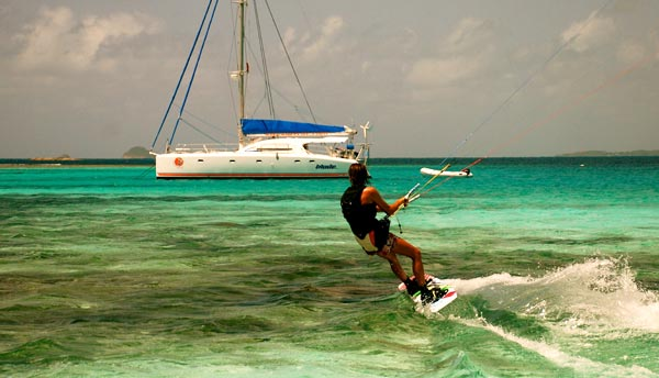 Kitesurfing Grenadines - Union Anchorage