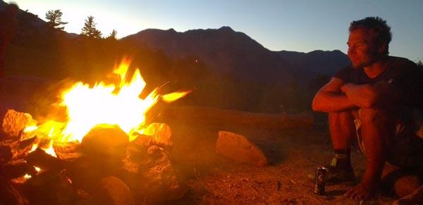 Lac de Serre Poncon Camp Fire