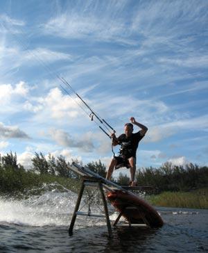 Kitesurfing Slider - Sinisa Misic - La Mercy Lagoon