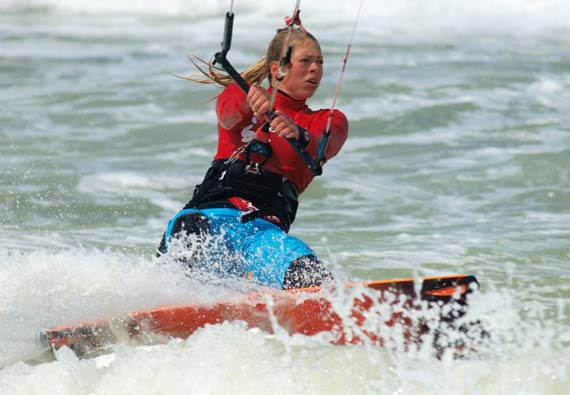 Kitesurf World Cup 2011 - Hannah Whiteley
