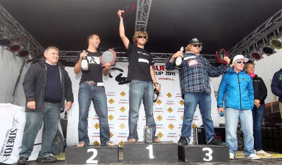 Kitesurf World Cup Sylt 2011 - Podium Mens
