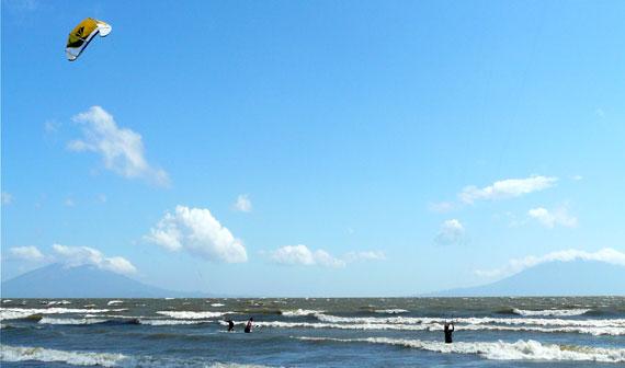 Kitesurfing at Nicaragua - Jessica Winkler