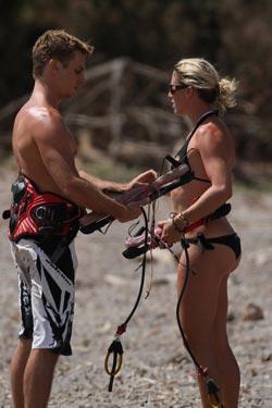 Kitesurfing Lessons at Nicaragua - Jessica & Scott
