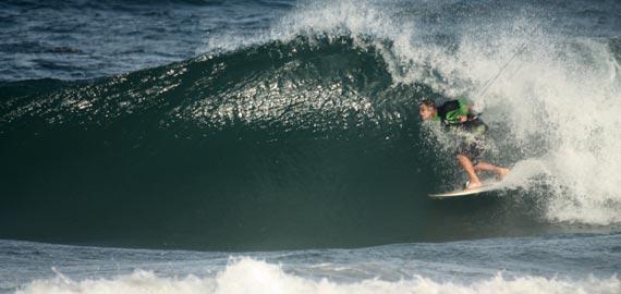 Kitesurfing - Wave Riding - Tube - Rob Chrystal