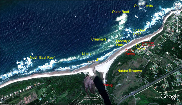 Palm Beach - Kitesurfing - Google Earth Image