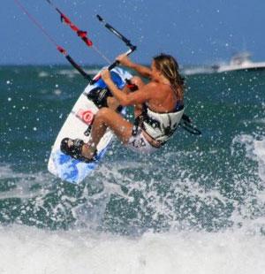 Christine Sleichter - Kiteboarding
