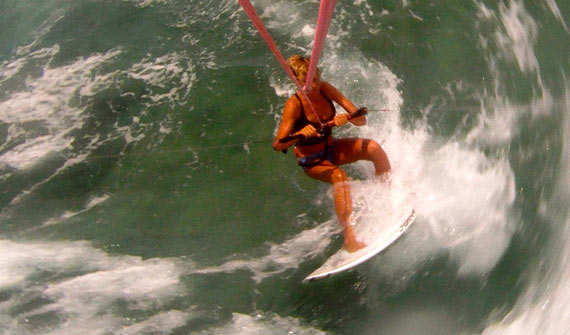 Julia Brown - Kitesurfing - Wave Riding