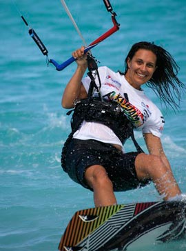 Laurel Eastman Kiteboarder