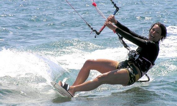 Sandrine Roussos Werner - Kiteboarding