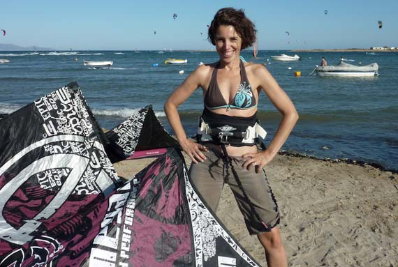 Sandrine Roussos Werner - Kitesurfing